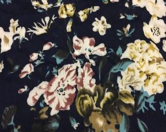 Rayon  Crinkle Floral Print 2-1/8 Yards