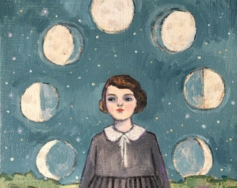Marion found her place in the universe  - print of original oil painting