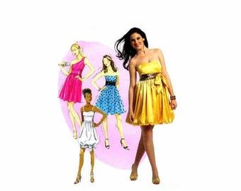 SALE Misses Strapless Bubble Skirt Dress McCalls 5850 Sewing Pattern Size 12 - 14 - 16 - 18 Bust 34 - 36 - 38 - 40 Uncut