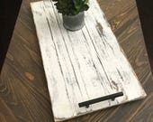 DISTRESSED wood serving tray / European farmhouse style tray