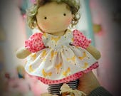 "Custom order 10"" Waldorf doll with clothing"