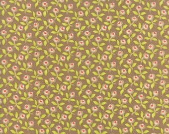 Hazel and Plum - Plum Blossoms in Harvest Tan: sku 20291-13 cotton quilting fabric by Fig Tree and Co. for Moda Fabrics