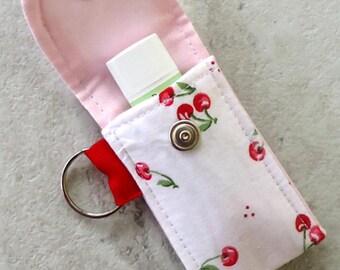 Lip Balm Keychain, Lipbalm holder, Fresh Cherries, Mother's day gift, Teacher gift, for her under 10 dollars, spring, summer