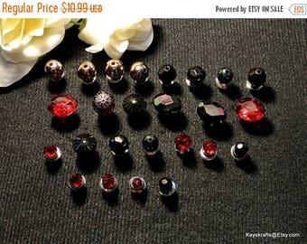 Eclipse Sale Maroon Black Thumbtacks Pushpins, Maroon Black Bead Thumb Tacks Push Pins, Gift For Her, Mothers Day Gift, Cork Board Accessory