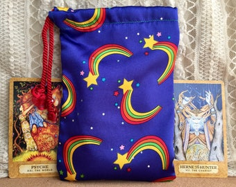 Rainbow Star Tarot Bag