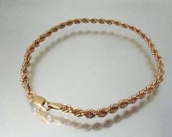 10k Gold Rope Bracelet