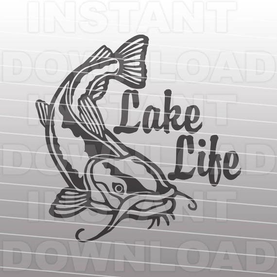 Fishing Svg Filelake Life Catfish Svg File Vector Clipart