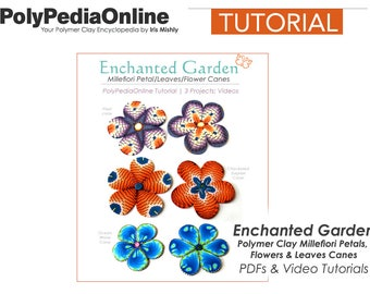 Polymer Clay Tutorial, Millefiori Canes, PDF Tutorial, Polymer Clay Beads, Beads Tutorial, DIY Handmade Beads, Fimo Beads, Video Tutorial