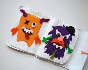 Felt Mr. Monster Play Book - Create and Build a Monster - Felt Board - Mr Potato Head - Creativity - Monsters - Busy Book - Quiet Book