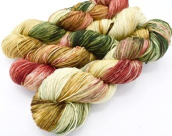 The Night Before Christmas Hand Dyed Christmas Yarn - Dyed to Order