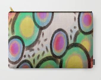 Funky Abstract Art Carry All Pouch Cosmetics Bag Clutch Bag Handbag Purse