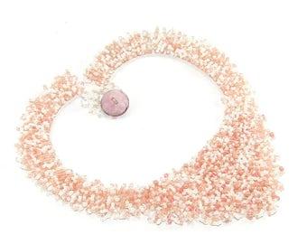 Beaded Collar, Beaded Necklace, Beaded Bib