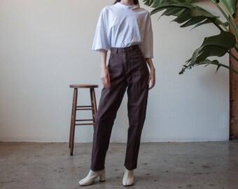 brown denim high rise jeans / high rise tapered denim / US 10 / 30 W / 3278t / B10