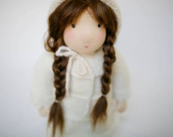 Waldorf Doll, Natural Fiber Doll, Cloth Doll, Organic Doll, great for pretend play for boys and girls, makes great birthday present and toy