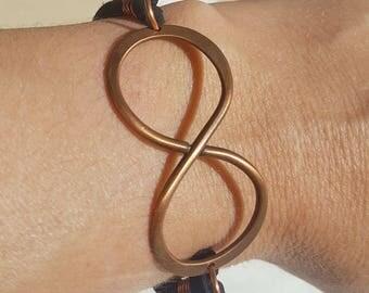 Hammered Copper Infinity Bracelet 2