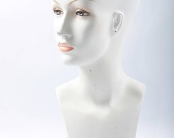 Revlon, Vintage, Mannequin Head,  Bust, Plastic, Wig, Jewelry, Sunglasses Model, White, Painted Makeup, Headstand ~ The Pink Room ~ 161205