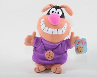 Chip The Cookie Hound, General Mills Cereal, Breakfast Pals, Vintage Toy, Plush Stuffed Animal, Purple Shirt, Smile ~ The Pink Room ~ 170318