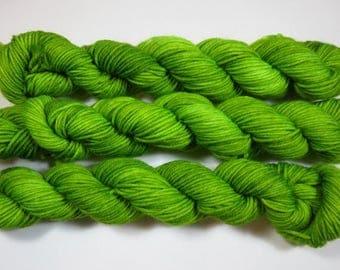Handpainted Superwash Merino/Nylon 4-ply Sock Yarn -- FrankenGreen