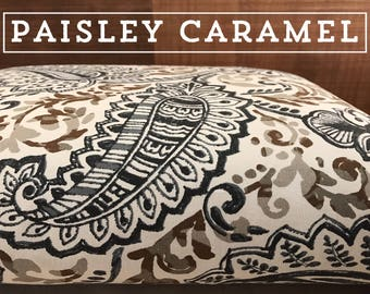 Dog Bed Cover, Paisley Cover, Blue Cover, Brown Cover, Dog Bed Duvet, Pet Bed Cover, Cat Bed Cover