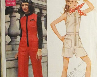 60% OFF SALE 1960s Vintage Sewing Pattern Butterick 5617 Misses Romper Jumpsuit Pattern Size 12