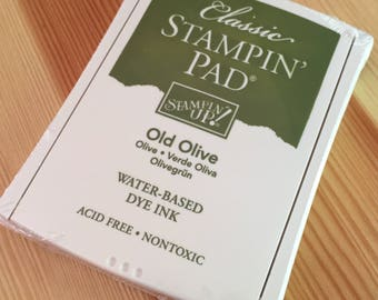 Old Olive Stampin' Up Ink Pad - Water-Based Dye Ink - Brand New in Package - NIP Unopened