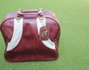 VINTAGE bowling ball bag with hang tag