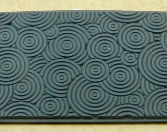 DECO CIRCLES MINI   Rubber Texture Tile Mat Stamp for Clay inks Paint Soap   TTL215