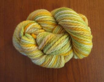 LEMON LEAF Handpainted Wool Yarn Aran Weight 90yds 2.5oz Hand Painted  Aspen Moon Arts