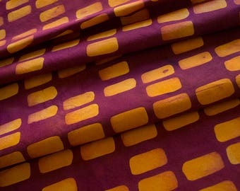 Forma:Sides Hand Dyed and Patterned Cotton Fabric in Orange and Raspberry