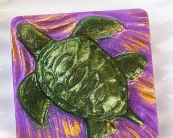 Hawaiian Turtle Soap, Aloha Soap, Turtle Soap, Honu, Hawaiian Decor, Beach Decor, Stocking Stuffer, Vegan Soap, Handmade Soap, 10 Pack