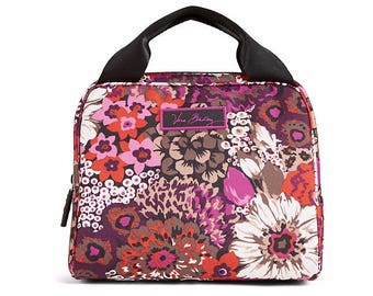 New Vera Bradley lunch, Rosewood lunch bunch lunch cooler, Monogrammed lunchbag, personalized lunchbox, New retired prints