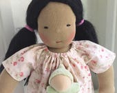 Waldorf doll, Asian girl doll, a 12 inch germandolls handmade natural, gift for girl, birthday present