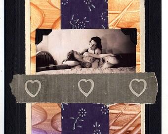Delirium Lesbian Love Wedding Collage Card