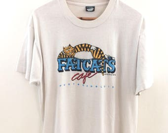 Vintage '88 Fat Cats Cafe T-shirt