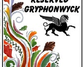 RESERVED - customized Gryffindor Ceramic Yarn Bowl