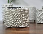 OOAK Planter Vase  - Handmade Porcelain Planter, Ceramic Vase, Modern Ceramic Vase, White Planter, Pottery Ceramics, Planter Pot