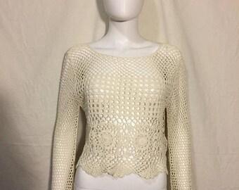 Closing Shop 40%off SALE 90s sweater top shirt knit crochet sweater