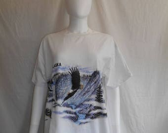 Closing Shop 40%off SALE ALASKA t shirt, eagle t shirt, nature graphic tee,  bald eagle t shirt