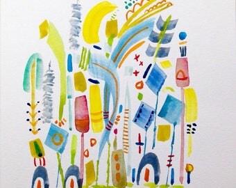 Original watercolor painting by Susan Schwake number 16 (tender)