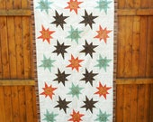 Quilt Top, Stars Quilt Top, Fall Quil Top, Lap Size Quilt Top, Table Topper Quilt Top