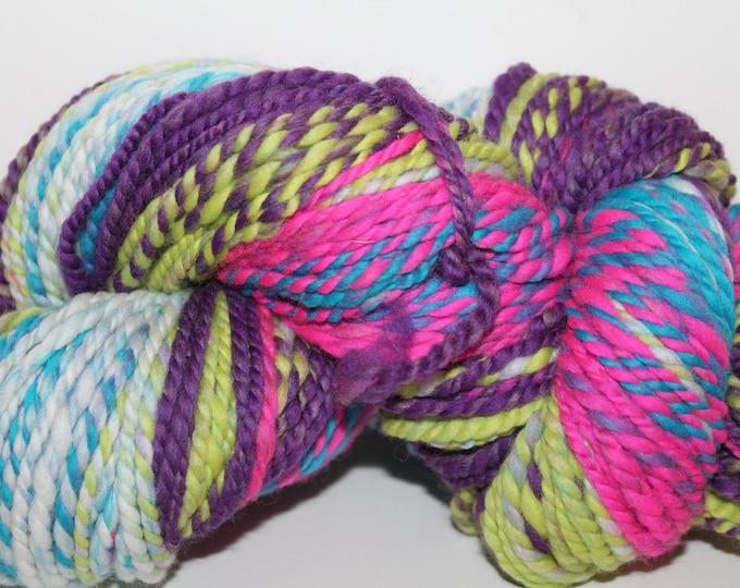 Handspun Merino Wool Yarn.  2ply Bulky Weight. Super Soft. 7.2oz/176yards