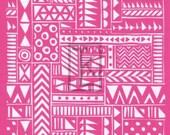 Tribal Textile Silk Screen silkscreen