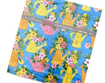 Vintage Mod 1960's Shower Wrapping Paper with Watering Cans