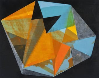 Cubist Inspired Abstract Painting Reflector