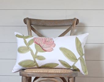 Blush & Chartreuse Cushion Cover