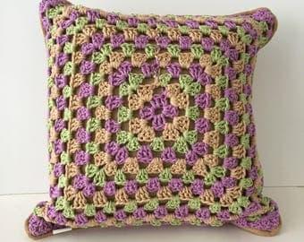 Boho crochet pillows - set of 2 - crochet pillows - Free shipping