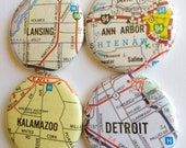 Brooklyn area Michigan magnet you pick the city, map, custom city, Michigan City, refrigerator Magnet