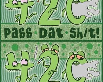 Pass Dat Sh/t! Sticker Double Whammy