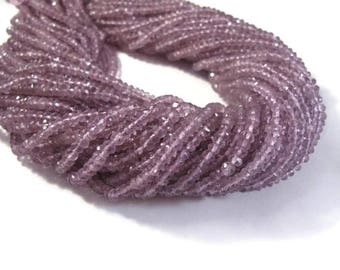 Summer SALEabration - Natural Pink Amethyst Beads, Faceted Rondelles 2.8mm - 3.2mm, 6.5 Inch Strand, Rondelle Beads, For Necklace, Jewelry S