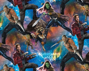 Packed Guardians of the Galaxy, Marvel Comics, Cotton  1 yard